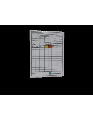 Tarjeta anotaciones LLUVIA reutilizable
