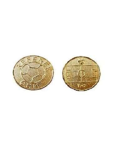 Moneda sorteo dorada