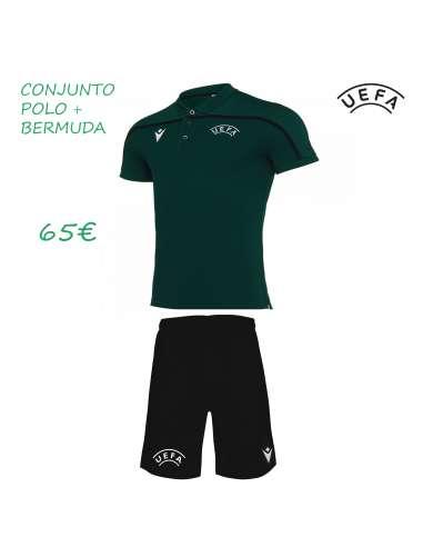 Conjunto UEFA polo oficial + bermuda